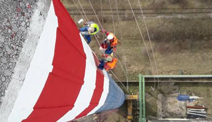 Oprava priemyselných komínov - Výškové práce s.r.o.